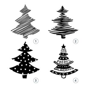 Motivstempel Weihnachtsbäume
