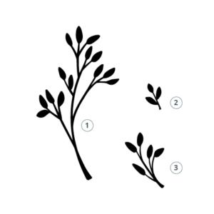 Motivstempel Blätter zum Basteln