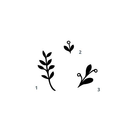 Pflanzenstempel Blätter