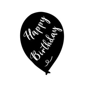 Der Motivstempel Happy Birthday für Geburtstage