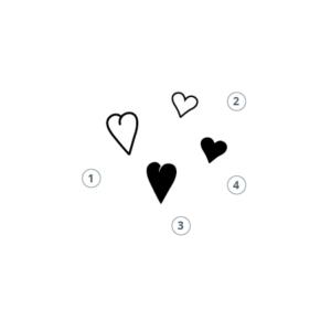 Motivstempel kleines Herz 2