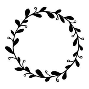 Motivstempel Kranz mit Blätter