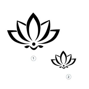 Motivstempel Lotusblume