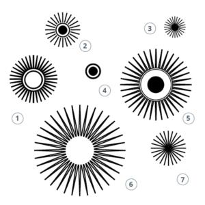 Motivstempel Ornament Kreis