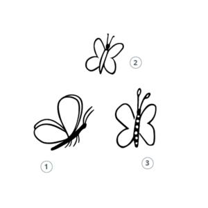 Tierstempel Schmetterling