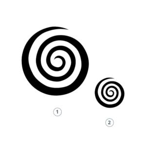 Motivstempel Spirale