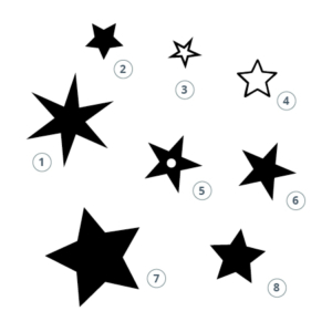 Motivstempel Sterne
