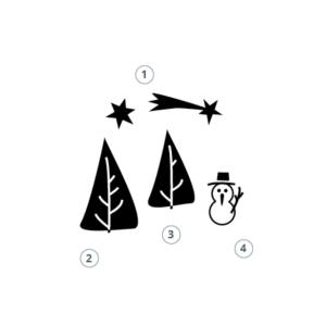 Motivstempel Weihnachtslandschaft