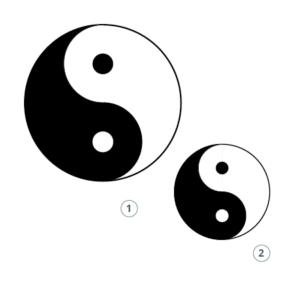 Motivstempel Yin Yang