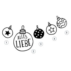 Stempel kleine Weihnachtskugel