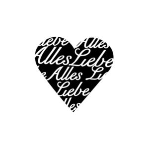 Motivstempel Herz Alles Liebe