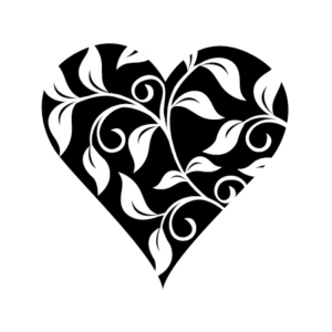 Motivstempel Herz Blätter