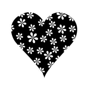 Motivstempel Herz Blumen