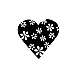 Motivstempel Herz Blüte