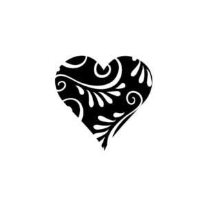 Motivstempel Herz Ornament